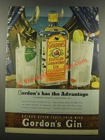 1939 Gordon's Gin Ad - Has the Advantage
