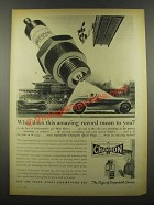 1939 Champion Spark Plugs Ad - Indianapolis 500