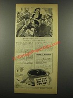 1939 Pan American Coffee Bureau Ad - Christmas Shopping