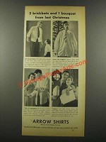 1939 Arrow Shirts Ad - 3 Brickbats and 1 Bouquet