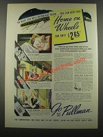 1939 Pullman Railroad Cars Ad - Home on Wheels