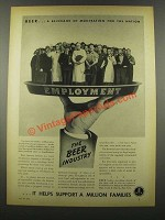 1939 United Brewers Industrial Foundation Ad - Beer