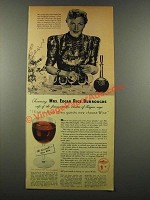 1939 Wine Advisory Board Ad - Mrs. Edgar Rice Burroughs