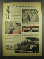 1939 Ford Cars Ad - How Long Has This Been Going On?