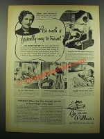 1939 Pullman Rail Car Ad - A Friendly Way to Travel