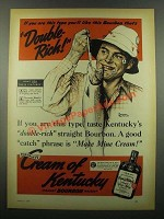 1939 Cream of Kentucky Bourbon Ad - Norman Rockwell - This type