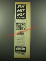 1939 Simoniz Wax Ad - New Easy Way