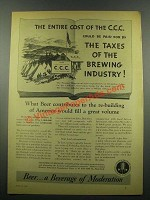 1939 United Brewers Industrial Foundation Ad - C.C.C.