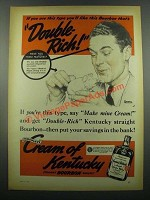 1939 Cream of Kentucky Bourbon Ad - Norman Rockwell - Double-Rich