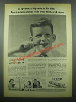 1939 Ipana Tooth Paste Ad - From Big Man to His Dad