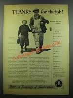 1939 United Brewers Industrial Foundation Ad - Thanks