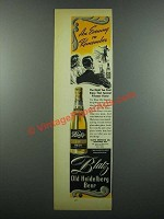1939 Blatz Old Heidelberg Beer Ad - Evening to Remember