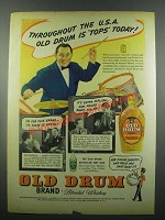1939 Old Drum Whiskey Ad - Vincent Lopez