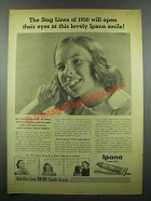 1939 Ipana Tooth Paste Ad - The Stag Lines of 1950