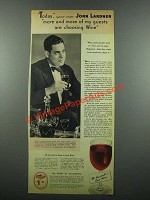 1939 Wine Advisory Board Ad - Writer John Lardner