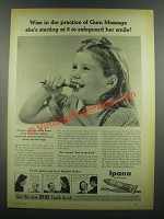 1939 Ipana Tooth Paste Ad - Practice of Gum Massage