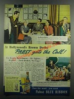 1939 Pabst Blue Ribbon Beer Ad - At Brown Derby