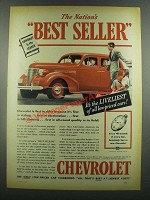 1939 Chevrolet Car Ad - The Nation's Best Seller