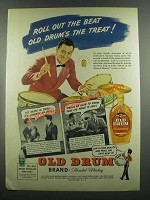 1939 Old Drum Whiskey Ad - Jack Sadoff