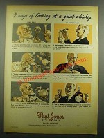 1939 Paul Jones Whiskey Ad - 2 Ways of Looking At