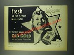 1939 Old Gold Cigarettes Ad - Jean Parker