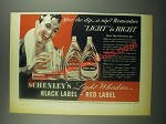 1939 Schenley's Black Label & Red Label Whiskey Ad