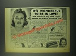 1939 Palmolive Soap Ad - It's Wonderful To Be in Love