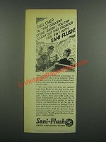 1939 Sani-Flush Cleaner Ad - Pull Over to that Store