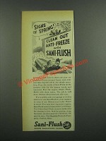 1939 Sani-Flush Cleaner Ad - Signs of Spring