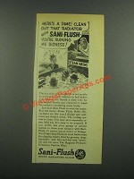 1939 Sani-Flush Cleaner Ad - Here's a Dime Clean Out