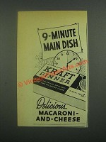 1939 Kraft Dinner Macaroni-and-cheese Ad - 9-Minute