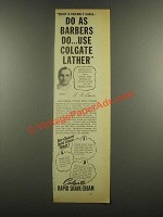 1938 Colgate Rapid Shave Cream Ad - As Barbers Do