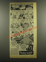 1938 Prince Albert Tobacco Ad - Hallowe'en New England