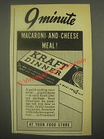 1938 Kraft Dinner Macaroni and Cheese Ad - 9 Minute