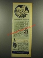1937 AC Spark Plugs ad - Dirty Plugs Steal Engine Power