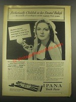 1937 Ipana Tooth Paste Ad - Pathetically Childish