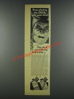 1937 Mennen Lather Shave and Brushless Shave Ad - Devil