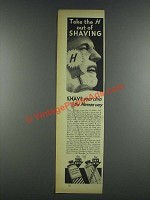 1937 Mennen Lather Shave and Brushless Shave Ad