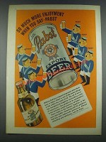 1937 Pabst Blue Ribbon and Export Beer Ad - Enjoyment