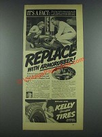 1937 Kelly Springfield Tires Ad - Replace Armorubber