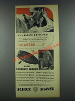 1937 Schick Shaver Ad - Till Breath Do Us Part