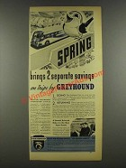 1937 Greyhound Bus Ad - Brings 2 Separate Savings