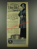 1937 Greyhound Bus Ad - I love Life