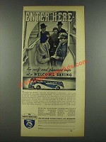 1937 Greyhound Bus Ad - Enter Here