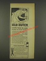 1937 Old Dutch Cleanser Ad - Costs Less To Use