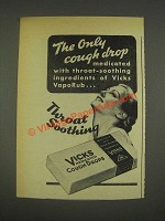 1937 Vicks Medicated Cough Drops Ad