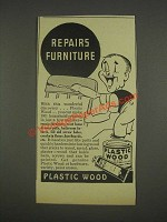 1937 Plastic Wood Ad - Repairs Furniture