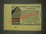 1937 The Rosicrucians Ad - What Strange Powers