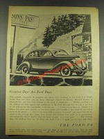1936 Ford V-8 Car Ad - Vacation Days