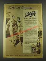 1936 Schlitz Sunshine Vitamin D Beer Ad - Health